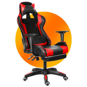 Gaming Chairs Executive Office Chair Racing Computer Desk Seat Leather  .