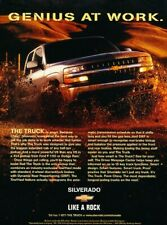 1999 2000 Chevrolet Silverado Genius Truck Advertisement Print Art Car Ad J802