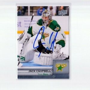 JACK CAMPBELL autographed SIGNED '14 Upper Deck AHL card TORONTO MAPLE LEAFS