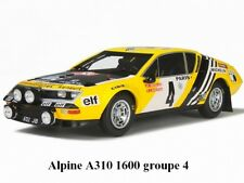 ALPINE A310 1600 groupe 4 1/18 Ottomobile Otto Neuve