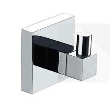 UK Towel Robe Hook Square Single Chrome Hook Hangers Modern Bathroom Accessory