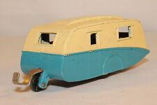 1950's Dinky # 190 Caravan Camper Trailer, Blue & White,  Nice Original