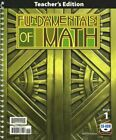 BJU Press Fundamentals of Math Teacher's Edition with CD 2nd Edition - 7th Grade