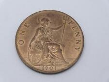 VICTORIA OLD HEAD 1901 PENNY HIGH GRADE WITH LUSTRE