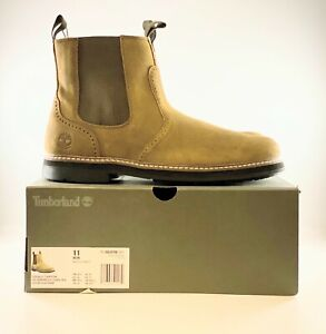 Timberland Squall Canyon Waterproof Chelsea Boots Olive Leather 11 TB0A297W901