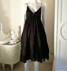 ALL Saints Kleid 38 100% Seide Seidenkleid gothic Kleid Tunika victorian Style