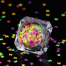 BORN PRETTY Fluorescent Glitter Nail Sequins Butterfly Flakes Paillette DIY