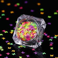 BORN PRETTY Fluoreszierende Glitzer Sequins Schmetterling Flocken Paillette