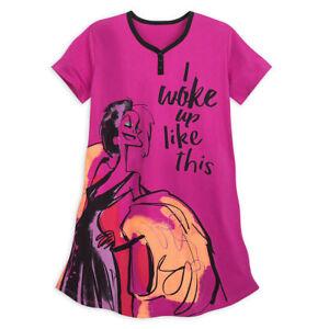 NWT Disney Store Cruella De Vil Nightshirt Nightgown for Women 101 Dalmatians