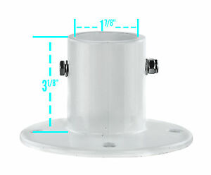 Inter-Fab City 2 In-Ground Swimming Pool Aluminum Deck Flanges For Slide-4 Pack