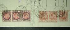 1919  ITALIA 6  Marche da Bollo  da 3 e 5 lire su documento integro