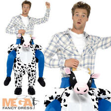 Piggyback Cow Adults Fancy Dress Animal Farm Mens Ladies Ride On Costume Outfit