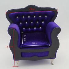 Purple-blue Mini Furniture Sofa For 1/6 1/4 Tall BJD MSD YOSD DD DK Dollfie