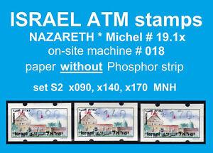 Israel ATM NAZARETH * no Ph * 018 * set 2 * 90/140/170 MNH * Klussendorf Frama