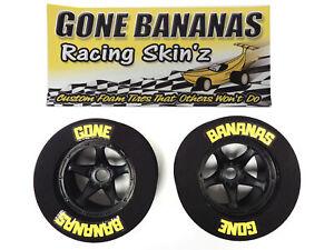 Gone Bananas Racing Skinz Foam Drag Racing Wheels Tires Fits HPI Baja, Rovan, KM