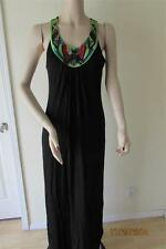 NWT 2B BEBE TRIBAL EMBELLISHED MAXI DRESS SIZE M