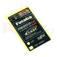 FUTABA R6203SB RECEIVER STICKER LABEL (1PC) 7A57001