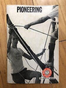 BOY SCOUTS of America 1972 PIONEERING MERIT BADGE BOOK