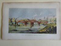 The New Harlem Bridge New York City Harlem River 1868 Valentine lithograph print