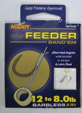 MIDDY Pellet Feeder Band'em  Hooks-to-Nylon:  8lb BARBLESS Hook Size:12