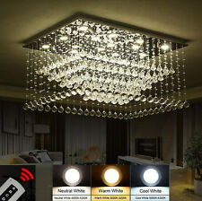 Creative Two-tone Dimming LED K9 Crystal Chandelier Ceiling Light Fixtures #6782