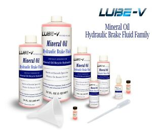 Lube-V Mineral Oil Bike Hydraulic Disc Brake Fluid for Shimano Magura, USA made