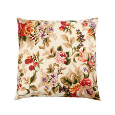 LUXURY HEAVY WEIGHT FABRIC Cotton Cushion Covers FLORAL Vintage ENGLISH ROSE!!!