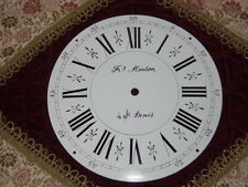 Altes Zifferblatt Fr. Mouton für Comtoise Uhr Wanduhr Frankreich ca 1900 Email