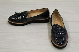 Naturalizer August Patent Leather Tassel Loafers, Women's Size 7 W, Navy NEW