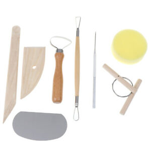 8pcs Pottery Clay Tool Set Pottery Ceramics Molding Tools Wood Sponge T,dy