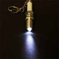 Casual Fashion LED Key Chain Spark Plug Key Chain Keychain Car Parts Keyring JIG