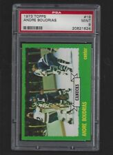 1973 Topps #19 Andre Boudrias,  PSA  9 MINT, Vancouver Canucks Hockey 1973-74