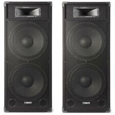 COPPIA CASSE AMPLIFICATE ATTIVE 3200W 2 WOOFER DA 38 CM A CASSA  DJ PIANOBAR