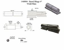 """ONE 4"""" Barrel Hinge with Grease Zert and Weld Plate 49994"""