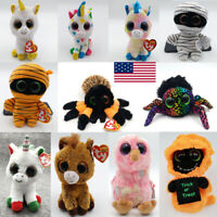 "14Styles Ty Beanie Boos 6"" Stuffed Plush Animal Plush Doll Kids Toy XMAS Gift-"