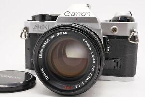 [N MINT] Canon AE-1 Program 35mm SLR Body FD 50mm f/1.4 S.s.C. Lens From Japan