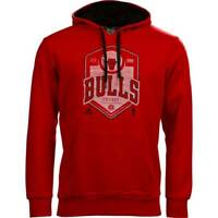 adidas Men's Chicago Bulls Hoodie Hooded Sweatshirt Casual Basketball Red Small