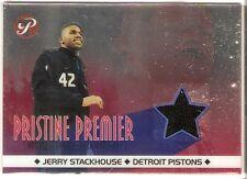 JERRY STACKHOUSE ALL-STAR JERSEY 2001-02 TOPPS PRISTINE PREMIER PR-JS PISTONS