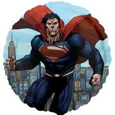 """DC SUPERHEROES SUPERMAN 17"""" Redondo Globo metalizado Cumpleaños"""