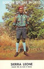 "# M486    BOY SCOUTS,   "" SCOUTS OF THE WORLD ""  POSTCARD,    SIERRA  LEONE"