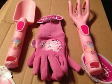 Great Disney Princess Gardening Pack. Gloves, Trowel, Cultivator. NEW!