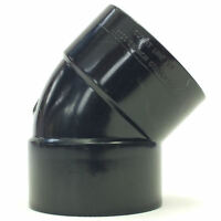 Solvent Weld 45 Degree Bend Elbow - Waste Water Glue Fit Cement Fitting
