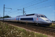 Train express TGV 512097 près de Bordeaux GIRONDE FRANCE A4 papier photo