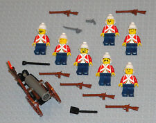LEGO Minifigures 7 British Soldiers Army Men Military Rifles Lego Minifigs Guys