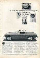 1966 MGB British Motor Corporation Comvertible PRINT AD