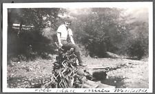 1921 MUIR WOODS CALIFORNIA SAN FRANCISCO GIRL TREE STUMP ROOTS JOE'S PLACE PHOTO