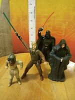 Star Wars Figure Lot of 4: Anakin Skywalker Emperor Palpatine Darth Vader