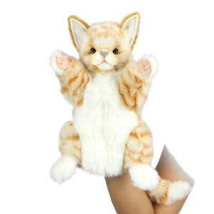 HANSA GINGER CAT HAND PUPPET REALISTIC CUTE SOFT ANIMAL PLUSH TOY 30cm **NEW**