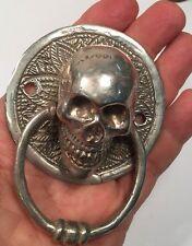 Skull Bronze Silver Plated Door Kocker Statue Figure All  Metal