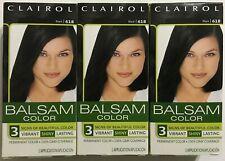 Clairol Balsam Permanent Hair Color Black 618 Lot of 3